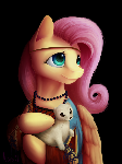 Fluttershy with an Ermine