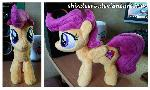 Filly Scootaloo Plushie with her cutiemark