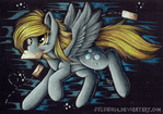 Flying Derpy - Black Paper version