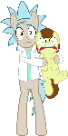 MLP Vector - Rick and Morty