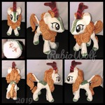 MLP Standing Autumn Blaze Plushie .:Commission:.
