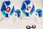 DJ pony / Vinyl scratch w goggles medium plushie