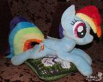 Plushie Rainbow Dash - 55 cm long for sale