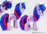Twilight Sparkle small plush w faux fur