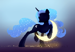 Princess Luna and Crescent Moon wallpaper