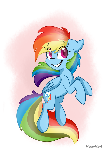 Jumping Dashie (simple Background)