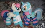 Bon Bon (Sweetie Drops) and Lyra Heartstrings