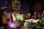A Cozy Hearth's Warming Eve (Art collab)