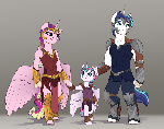 Rebellion AU- Cadence, Shining Armor, Flurry Heart