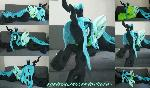 Life size (laying down) Queen Chrysalis plush