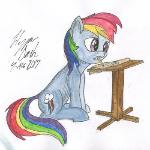 Watercolor Rainbow Dash