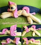 Life size (laying down) Fluttershy plush