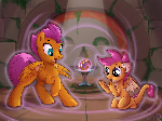 Sphere of swap: Smolder and Scootaloo