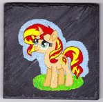 Slate Sunset Shimmer painting