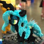 Tiny Chrysalis plush for BronyCon 2018