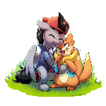 Commission: Buizel hugs