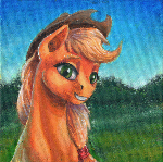 Applejack's smile