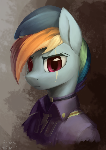 Rainbow Dash as a newly-inducted Ministry Mare