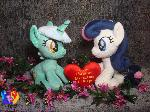 Lyra, Bon-Bon and customisable velvet heart