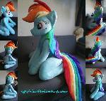 Life size (sitting) Rainbow Dash plush