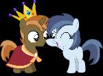 Button Mash (Alicorn) and Shady Daze (R63) - Boop