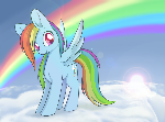 Regular Pony Drawing #4 - Rainbow Dash