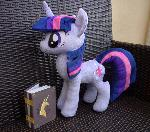 Twilight Sparkle plush with EOH book accessory