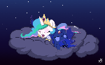 Sleepy Chibi Princesses