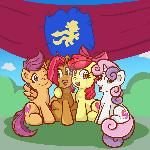 Cutie Mark Crusaders with Babs Seed