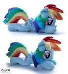 Rainbow Dash beanie plush