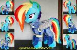 Rainbow Dash (battle outfit) plush