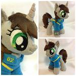Plushie Littlepip from Fallout: Equestria