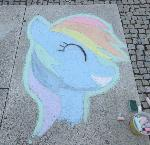 Chalk Rainbow Dash - GalaCon 2017