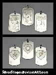 Crusader Engraved Pendants