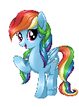 Rainbow Dash (Different Mane)