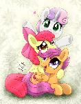 MLP FIM - Cute Sweetie Belle Apple Bloom Scootaloo