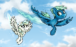 Flying with your friend (+Speed Paint)