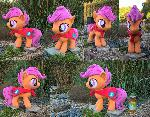 Scootaloo Minky Plush finished with CMC cape