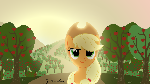 Applejack Sunrise Wallpaper