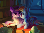 Commission-A Warm Night at Twilight's