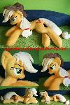 Life size (laying down) Applejack plush