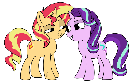 Sunset and Glim Glam