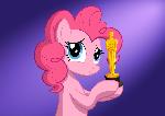 Pinkie Pie wins an Oscar