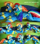 Wonderbolt Rainbow Dash Spitfire plush for sale
