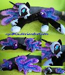 Life size (laying down) Nightmare Moon plush