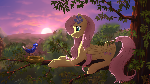 Fluttershy on a tree