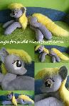 Life size (laying down) Derpy plush
