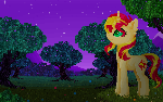Pixel Sunset