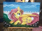 Fluttershy Canvas Painting