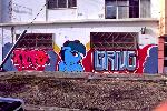Delta Vee graffiti